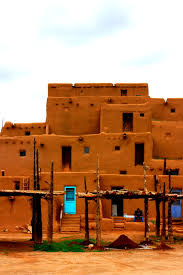 taos pueblo taos new mexico on a cloudy day for very wonderful
