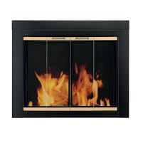 Cleaning Glass On Fireplace Doors by Amazon Com Pleasant Hearth Ar 1020 Arrington Fireplace Glass Door