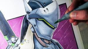 copic markers black friday let u0027s draw genji shimada from overwatch fan art friday youtube