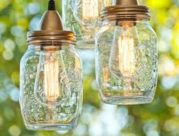 Jar Pendant Light Diy Mason Jar Hanging Pendant Lights