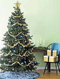 Blue And Gold Home Decor Mesmerizing Blue And Gold Christmas Tree 91 With Additional Home