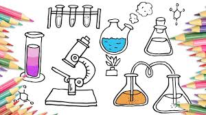 how to draw chemical laboratory microscope drawing and coloring