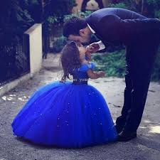 cute royal blue ball gown girls pageant dresses off shoulder tulle