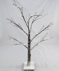 snowy light up twig tree 2ft brown white pre lit table