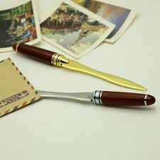 parker gold plated pen and letter opener tulipwood gold letter