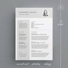 In Design Resume Template Amanda Resume Cv Template Word Photoshop Indesign