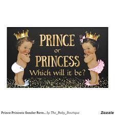 prince princess gender reveal baby shower banner gender reveal