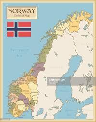 Map Og Vintage Map Of Norway Vector Art Getty Images