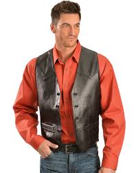 leather vest scully lamb leather vest sheplers