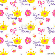 little princess pattern vector cute background for template