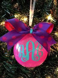personalized monogrammed glitter ornaments glitterornaments