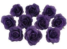 silk flowers bulk 10 purple heads silk flower wedding reception table