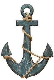nautical and decor benzara 91620 wood anchor with rope nautical decor