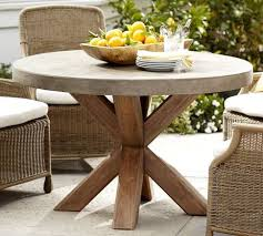 concrete top outdoor table abbott faux concrete top round fixed dining table on wanelo the