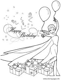 elsa birthday party colouring coloring pages printable