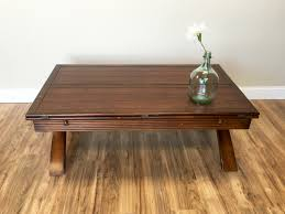 large coffee table natural wood folding coffee table square table