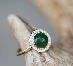 jade engagement ring terra in 14k yellow gold jade diamond halo available in 14k