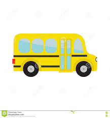 yellow bus kids cartoon clipart transportation baby
