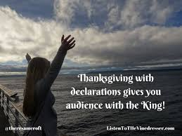 thanksgiving with declarations to breakthrough