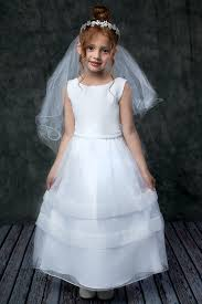 1st holy communion dresses organza holy communion dress w pearl waist in white or ivory