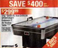 sportcraft turbo hockey table black friday deal sportcraft 7 endeavor air turbo hockey table
