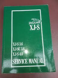 jaguar xjs coupe original factory workshop manual in march