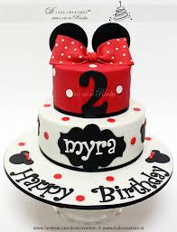Red Minnie Mouse Cake Decorations Minnie Mouse Birthday Cake Cakes For Girls Pinterest Minnie