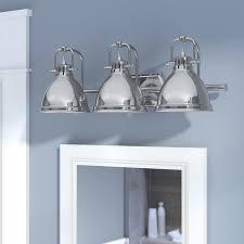 Glass Vanity Light Beachcrest Home Bodalla 3 Light Metal Vanity Light U0026 Reviews Wayfair