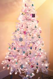 christmas white christmas tree prelitwhite with lights skirt to