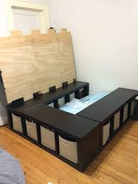 How To Build A Twin Platform Bed With Drawers by The 25 Best Diy Bed Frame Ideas On Pinterest Pallet Platform