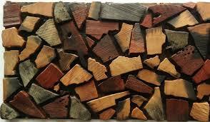 Natural Wood Mosaic Tile NWMT Kitchen Tile Backsplash Mosaic D - Pebble backsplash