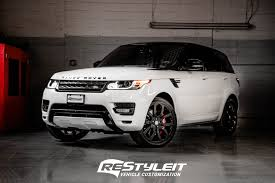 white wrapped range rover vehicle customization shop vinyl car wrap car wrap in toronto