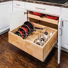 Organizing Pots And Pans In Kitchen Cabinets Pot And Pan Organizer This Really Got The Clutter Out Of My