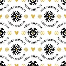 black and white christmas wrapping paper trendy christmas seamless pattern black and gold