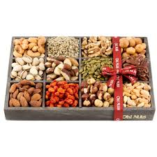 fruit and nut gift baskets 12 variety nuts in a modern wood gift tray a unique corporate