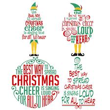 christmas cheer elf christmas cuttable design