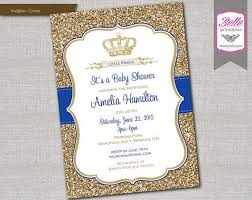 royal prince baby shower invitations paperinvite
