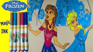disney frozen crayola color wonder magical paint queen elsa