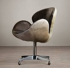 Devon Office Furniture by Devon Hair On Hide Back Chair Breakfast Nook Healdsburg Hunting
