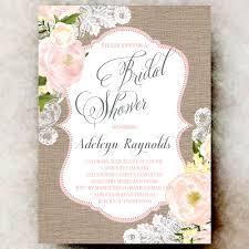shabby chic wedding invitations coral grey burlap lace bridal shower invitation shabby chic