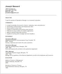 Sample Resume Without Objective by Download Generic Resume Template Haadyaooverbayresort Com