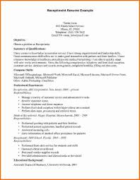 Receptionist Covering Letter Resume For A Receptionist With No Experience Free Resume Example