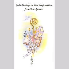 catholic confirmation gifts a confirmation card from your sponsor gift card dj catholic gifts
