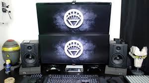 Dual Monitor Gaming Desk Beast Dual Monitor Gaming Setup Setup Deluxe 1 Youtube