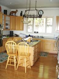 Country Style Kitchen Islands Decorations Farmhouse Country Kitchen With Teak Dining Set Also