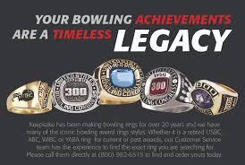 keepsake bowling rings keepsake bowling legacy rings keepsake bowling