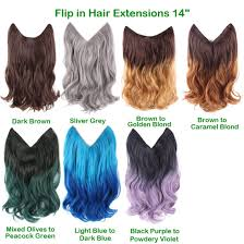 light brown hair piece light blue to dark blue ombre color 14 flip in hair extensions
