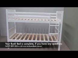 how to assemble bunk beds youtube