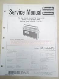 panasonic service manual rq 444s cassette tape recorder radio