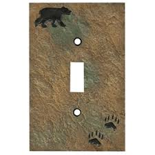 bear light switch covers rustic light switch covers bear wildlife moose designs